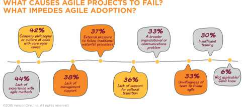 Leading causes of failed agile projects
